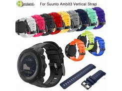 Sports Silicone Watch Strap for Suunto Ambit3 Vertical Watch Band Replacement Wristband for Suunto Traverse Alpha/Suunto Spartan