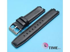 Replacement 16*22mm Black GENUINE Leather Watch Band Strap fits Pebble Smart Watch 2 Steel
