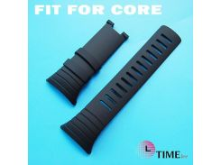 For SUUNTO CORE 24mm Black Men Watch Strap Waterproof Silicone Strap Watch Band without metal parts