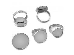 10pcs 2018 New Listing Stainless Steel 10mm-25mm Ring Round Empty Support Allergy Does Not Fade