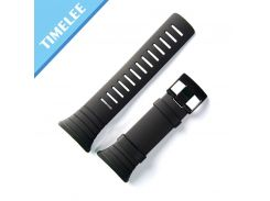 For SUUNTO CORE   Black Men Watch Strap Waterproof Silicone Strap Watch Band+ tools