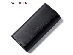 WEICHEN Casual Large Capacity Clutch Wallets Women's Leather Phone Pocket Card Holder Lady Purse Long Wallet Female Carteira