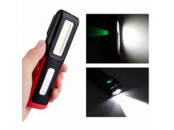 Portable Multifunction COB Flashlight Camping/Reading Lamp Magnetic Hook Light Power Display Include Rechargeable Battery