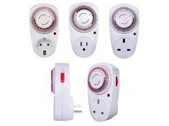 230V 16A 3600W EU US UK Plug 24 Hour Programmable Mechanical Electrical Plug Program Timer Power Switch Energy Saver