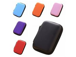 1PC Cosmetic Bags Hard Nylon Carry Bag 6 Colors Compartments Case Cover Headphone Earphone Jewelry Bag