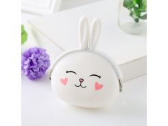 2018 New Girl's Gift Soft Silicone Lovely Coin Purse Lovely Rabbit Pouch Women Small Wallet Coin Bag