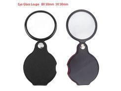 1pc 8X 50mm 5X 50mm Mini Pocket Folding Jewelry Magnifier Magnifying Eye Glass Loupe Lens