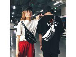HTNBO Unisex Waist Packs Waist Bag Fanny Pack Purse Chest Fanny Pack Travel Cashier Belt Hip-hop Rock Boys Girl Bag 2018