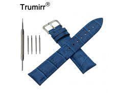 22mm Croco Genuine Leather Watch Band for LG G Watch W100 / W110 / Urbane W150 Stainless Pin Buckle Strap Wrist Belt Bracelet