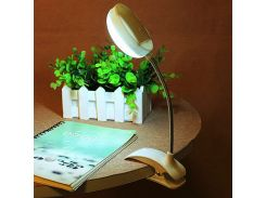 Eye-cared Flexible Clip-on Table Lamp LED Clamp Reading Study Bed Laptop Desk Bright Light 5 Units Ultra Bright LED Battery