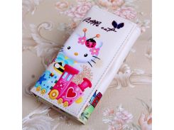 bdcabe4f5 Mcneely Wallet Women Purse hello kitty Hasp Long Wallet white Woman Coin Purse  Female Fashion Clutch