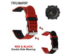 Silicone Rubber Watchband Double Side Wearing Strap for Suunto 9 / Ambit 3 Vertical / Spartan Sport HR Watch Band Wrist Bracelet