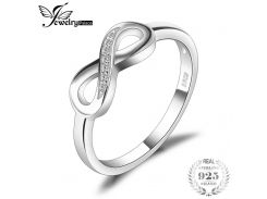 JewelryPalace Infinity Forever Love Anniversary Promise Ring For Women Genuine 925 Sterling Silver Fine Jewelry Gift For Women