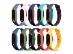 1Pcs 220mm Double Color Replacement Smart Bracelet Strap For Xiaomi Mi Band 2 Smart Watch Band Strap Wristband For Miband 2