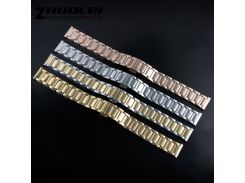 Lady Bracelet High quality 14mm 16mm silver gold rose gold stainless steel butterfly buckle watchband for moto 360 2nd gen strap