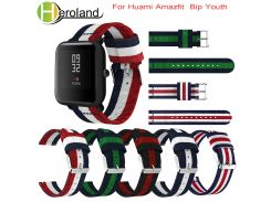 20mm WatchBand Strap for Xiaomi Huami Amazfit Bip wristband for Amazfit Bip Sporting Good Accessories Bracelet Nylon Replacement