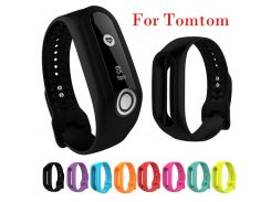 Sport Silicone Replacement Wristband Strap for Tomtom Touch Bracelet Watch Strap Fitness Tracker Black Blue Wholesale