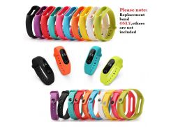 1PCS NEW Soft Silicone Wristband for Xiaomi Mi band 2 Colorful Replacement Strap for Mi Band 2 M2 Fashion Sport Bracelet Band