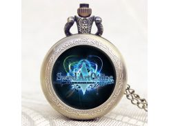Hot Game Sword Art Online Extension Cool Bronze Pocket Watch With Chain Necklace Gift To Young People P1151