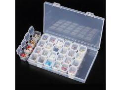28 Slots Plastic Storage Case Removable Rhinestone Nail Art Tools Jewelry Display Storage Box Organizer Ring Beads Holder