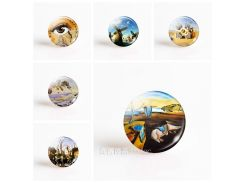 Salvador Dali Art 25mm Round Glass Cabochon DIY Pendant Handmade Jewelry Accessories for Blank Base