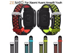Silicone Double Color Wristband Strap for Xiaomi Huami Amazfit bip Youth Watch 20mm Replacement Watchband Smart Accessories