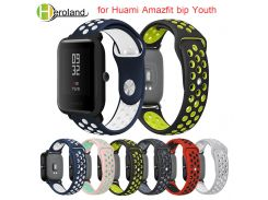 Silicone Smart Accessories Wristband Straps for Xiaomi Huami Amazfit bip Youth Double Colorful Replacement  smart Watchband 20mm