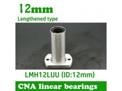 1 pcs/lot LMH12LUU 12mm long type flange linear bearing CNC Linear Bush Free shipping