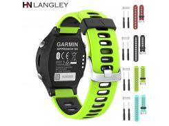 Colorful Silicone Watch Strap For Garmin Forerunner 220/230/235/620/630/735XT Sports Replacement Soft Silicone Band