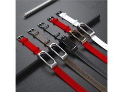 Leather watch Strap For Xiaomi Mi Band 2 miband 2 smart bracelet wristb replacement wrist band strap watchband belt Accessories
