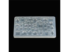 Rectangle Cabochon Silicon Pendant Molds For Epoxy Resin crystal 43 Patterns Mold Making Jewelry tools Art Making DIY