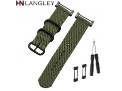 Watch band for SUUNTO smart watch Nylon Strap 24mm Men's Watch Suunto Core Nylon Strap Band with Adapters and tools