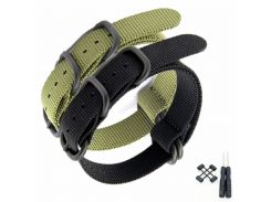 New For Suunto Core  Nylon Diver Watch Strap Band Kit Lugs  5-ring PDV Clasp 24mm Zulu Watchbands + Adapters + Tools