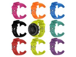 Silicone Replacement Wrist Band Strap For Suunto Core All Black Sports Watch