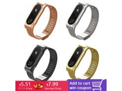 FOHUAS Metal Strap For Xiaomi Miband 2 Wristbands Wrist Band For Mi Band 2 Smart Bracelet Accessory Black Silver Gold Rose Pink