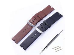 22mm New Mens Genuine Leather Watchbands Bracelet for Moto 360 Smart Watch Band Moto360 + Spring Bar + Tool