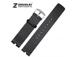 Watchband 22mm Black Smooth Genuine Leather Watch Band For MOTO 360 Smart Watches band