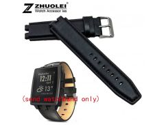 wholesale THE NEW 22mm Black 100% Cowhide leather Watch strap Bracelets replace Pebble Steel2 watchbands Free shipping