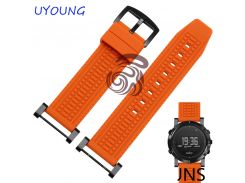 Quality Silicone Rubber Watchband For Suunto Essential New Hot Style For Suunto CORE Black And Silver Buckle