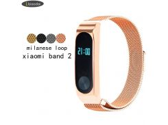 Milanese loop Bracelet for xiaomi mi band 2 strap stainless steel metal wrist band Smart Accessories watchband
