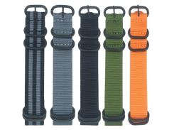 20mm 22mm 24mm Black Buckle Watch Band Strap Nylon Watchbands Replacement Wristbands Belt Accessories for Suunto