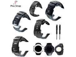 Plus Strap Silver & Black Buckle Silicone suunto Watch Strap For Ambit 1 2 3Replacement Suunto watchband Waterproof Rubber