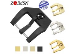 ZLIMSN 316L Solid Stainless Steel Watch Buckle Replacement Gold Silver Black 20 22 24 26mm Skull Clasp for Men's Women's Watches