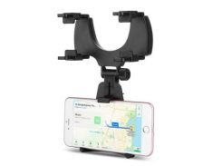 360 Degree Rotation Rear View Mirror Mount Phone Holder