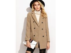 Модное двубортное пальто