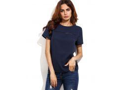 Тёмно-синяя модная футболка