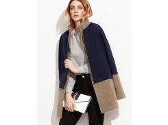 Контрастное модное пальто