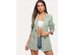 Двубортный простой пиджак