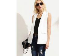 Белый модный жилет