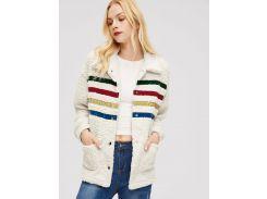 Контрастное пальто тедди с карманами